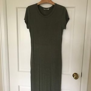 Poetry Olive Green Body Con Slit Dress